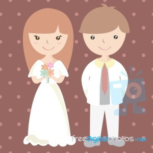 wedding-couple-cartoon-illustration-100148922