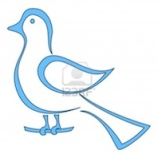 14122516-blue-bird-of-happiness-sits-on-a-branch-symbolical-image