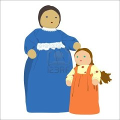 13078688-old-fashioned-mother-and-daughter-illustration-doll-on-white-background