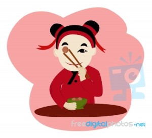 girl-eating-food-with-chopstick-10067550